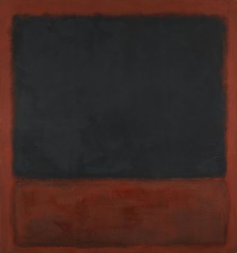 Untitled (Black, Red over Black on Red)