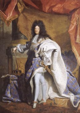 Portrait en pied de Louis XIV (1638-1715) âgé de 63 ans en grand costume royal