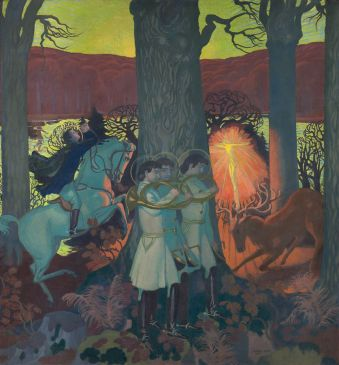 Le Miracle Panneau central du cycle La Légende de saint Hubert Maurice Denis (1870-1943)