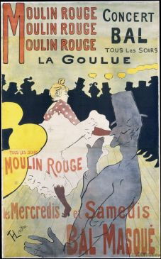 « Moulin Rouge : la Goulue » Toulouse Lautrec